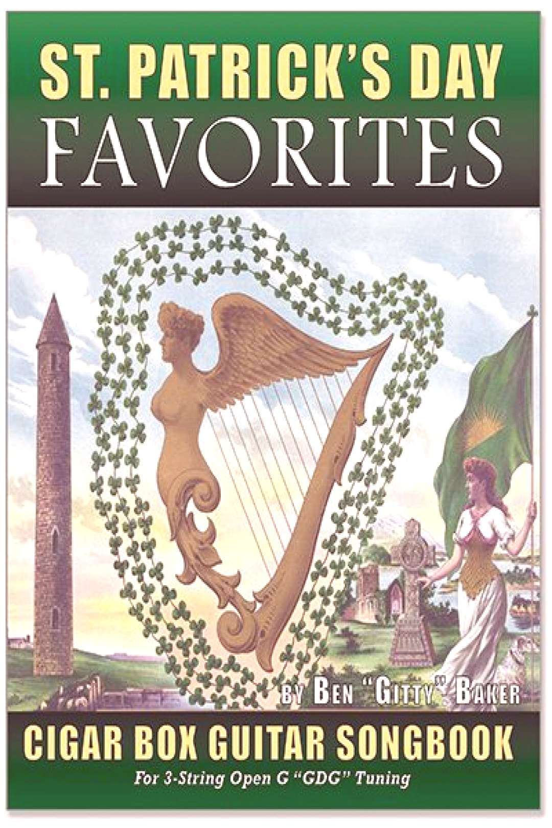 St. Patricks Day Favorites - 136-page Irish Songbook for Cigar Box Guitar - 35 songs!