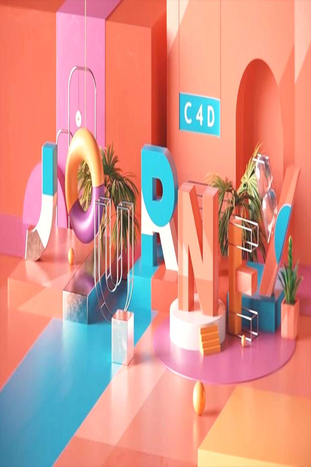 The hardcore course on basic knowledge about 3D world with Cinema 4D.