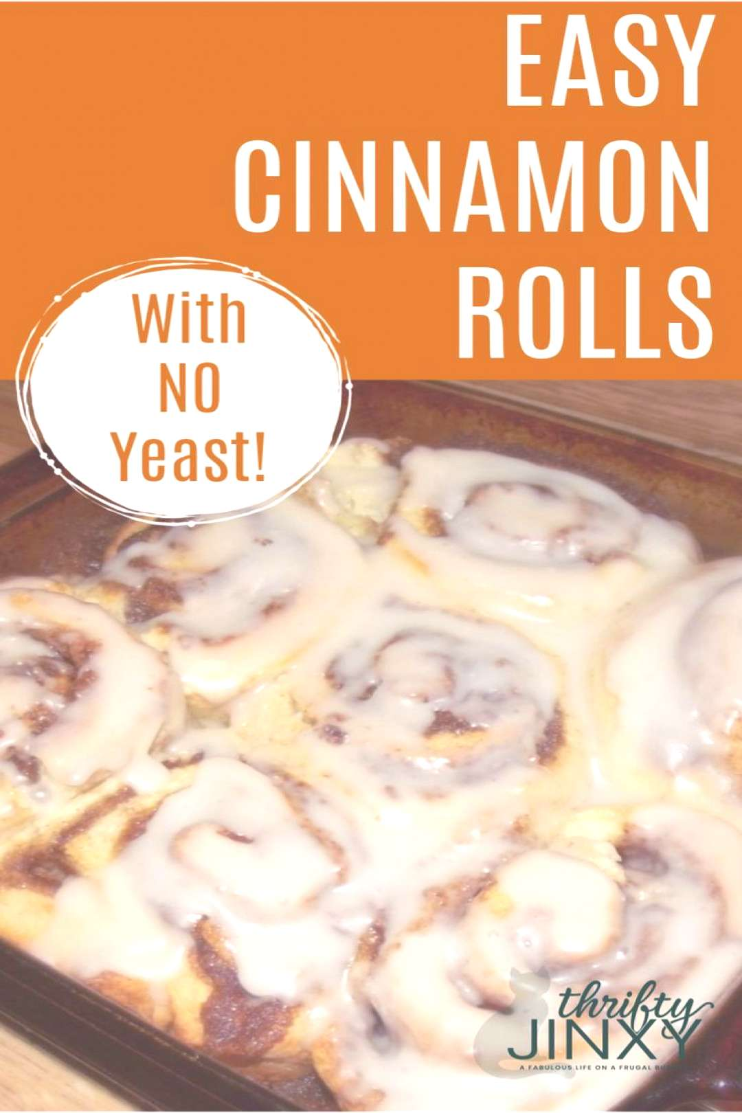 There's no need to wait for the dough to rise with this Quick and Easy No Yeast Cinnamon Rolls reci