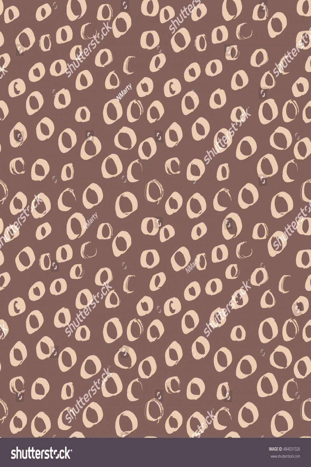 Vector seamless pattern of grunge spots and circles. ,