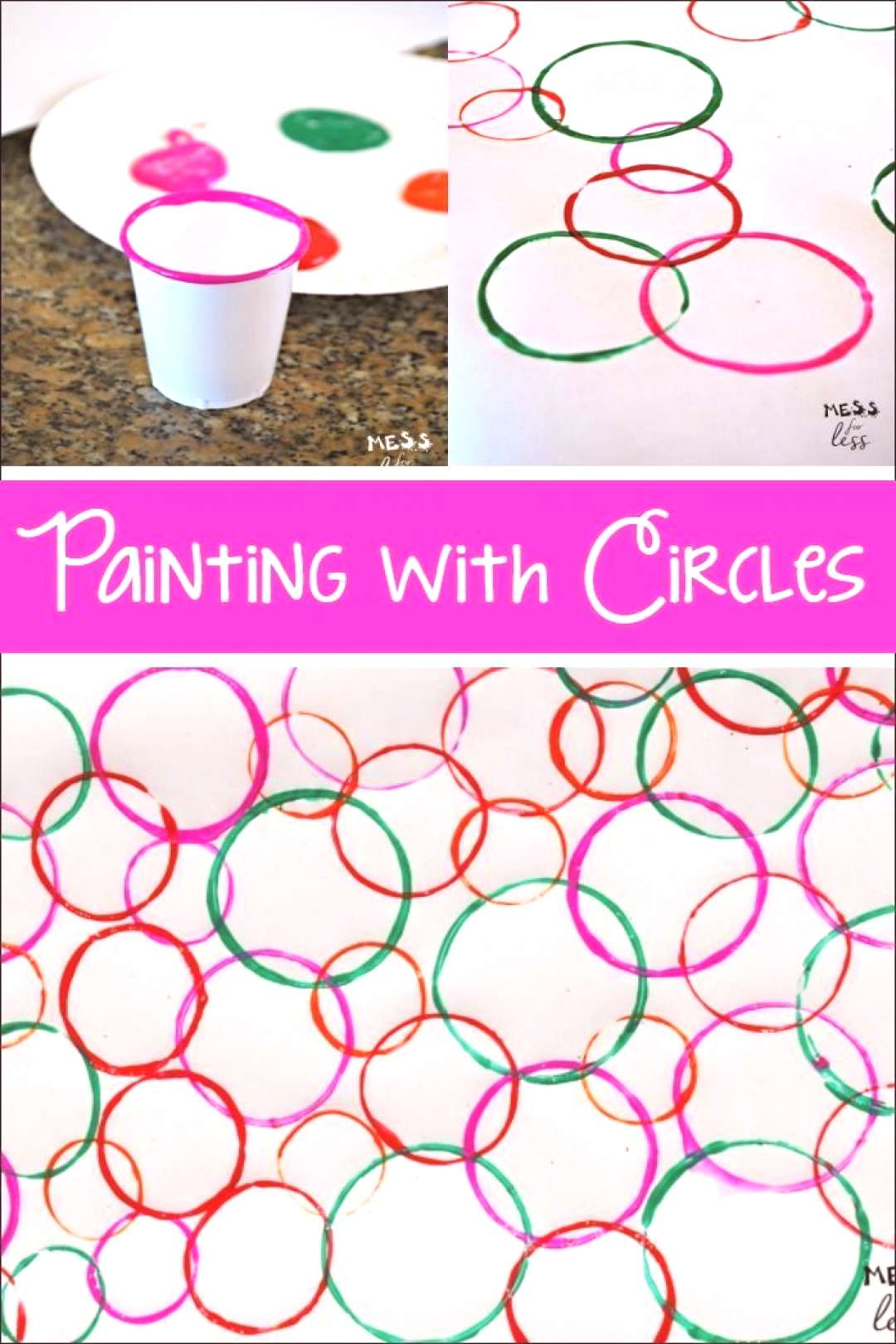 Your kids will be surprised when they see the eye catching art they can create when painting with c